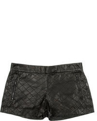 Alice + Olivia Leather Shorts