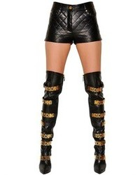 Moschino Quilted Nappa Leather Shorts