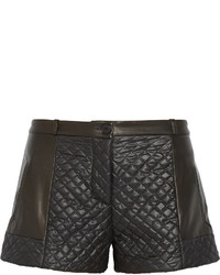 Thakoon Addition Leather And Quilted Shell Shorts