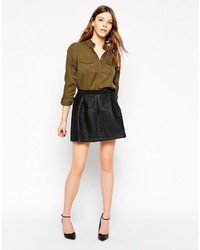 Yas pu quilted skater skirt medium 216198