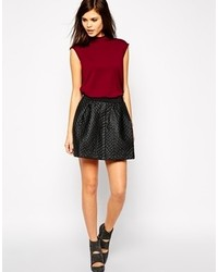 Yas quilted skater skirt medium 117135