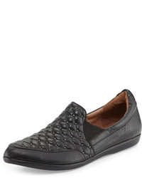 Linda Quilted Leather Sneaker Black