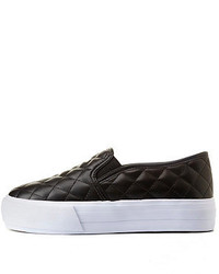 Dollhouse Quilted Slip On Flatform Sneakers