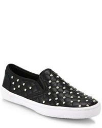 Rebecca Minkoff Leather Salli Too Pearl Detail Skate Sneakers