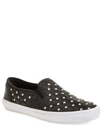 Rebecca Minkoff Salli Too Leather Slip On Sneaker