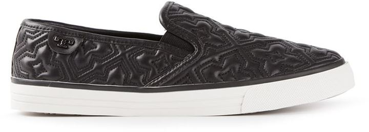 aafcac94cfedb Jesse 2 Quilted Slip On Sneakers. Black Quilted Leather Slip-on Sneakers by Tory  Burch