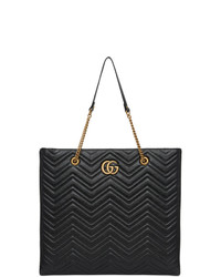 Gucci Black Large Gg Marmont 20 Tote