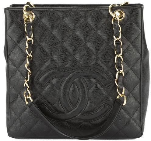 ... Chanel Black Quilted Caviar Leather Petite Shopping Tote Bag ... 3d6cc362fa2f5