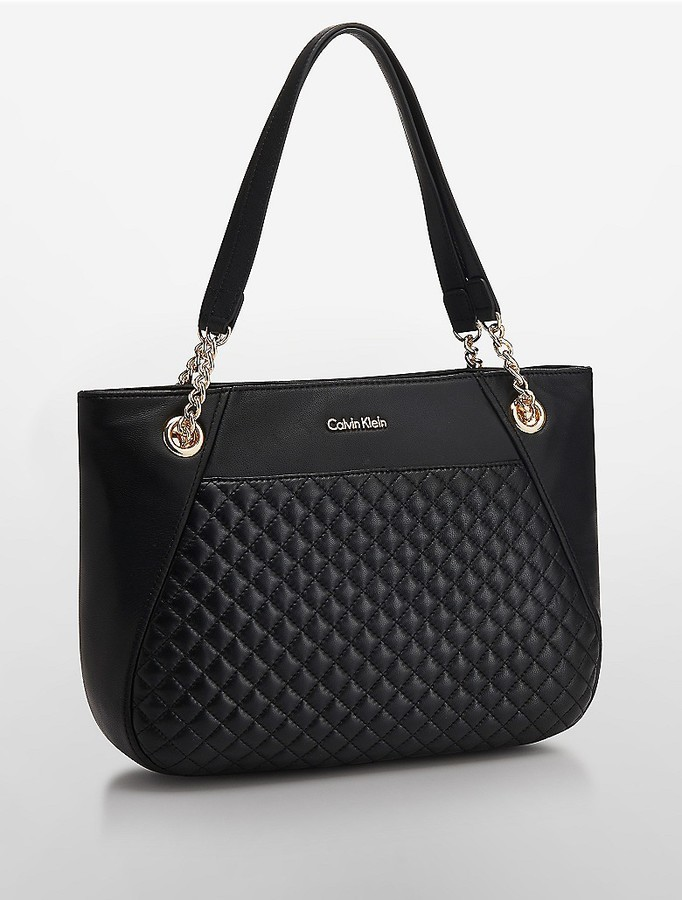 Calvin Klein Quilted Leather Tote Bag | Where to buy & how to wear : calvin klein quilted handbag - Adamdwight.com