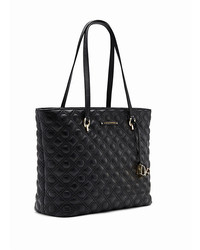 Tory Burch Marion Small Quilted Tote Bag Black Where To