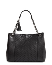 Tory Burch Fleming Distressed Leather Tote