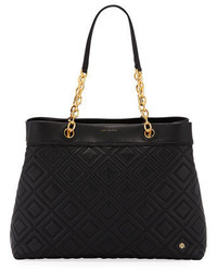 Tory Burch Fleming Quilted Leather Tote Bag