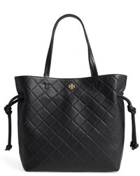 Georgia slouchy quilted leather tote black medium 5361057