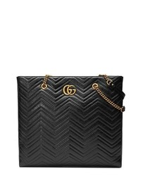 Gucci Gg Marmont 20 Matelasse Leather Northsouth Tote Bag