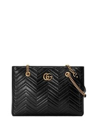 Gucci Gg Marmont 20 Matelasse Medium Leather Eastwest Tote Bag
