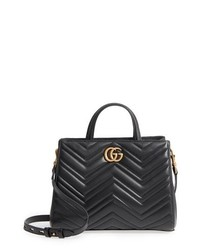Gucci Gg Small Marmont 20 Matelasse Leather Satchel