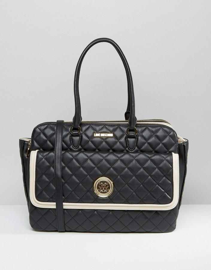 Love Moschino Love Moshchino Quilted Tote Bag Where To Buy How