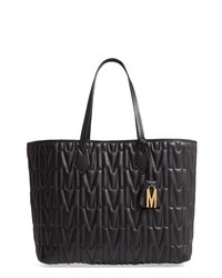 Moschino M Quilted Leather Tote