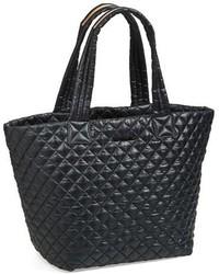 Medium metro quilted oxford nylon tote black medium 318627