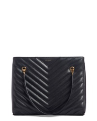 Saint Laurent Medium Tribeca Quilted Calfskin Leather Tote