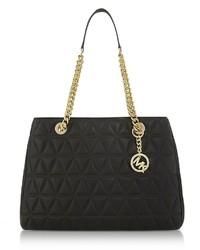 Michael Kors Michl Kors Scarlett Large Black Quilted Leather Tote Bag