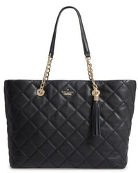 Kate Spade New York Emerson Place Priya Quilted Leather Tote Black