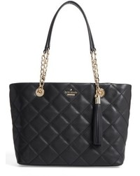 Kate Spade New York Small Emerson Place Priya Quilted Leather Tote Black