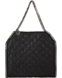 Stella McCartney Quilted Baby Bella Shaggy Deer Tote Black
