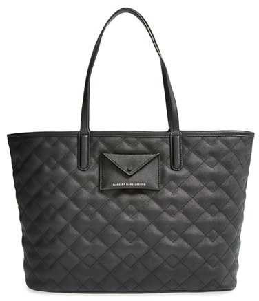 Black Quilted Leather Tote Bags Marc By Jacobs