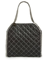 Stella McCartney Small Falabella Quilted Faux Leather Tote Grey