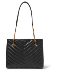 Saint Laurent Tribeca Small Quilted Textured Leather Tote