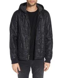 John Varvatos Star Usa Lightweight Hooded Quilted Jacket