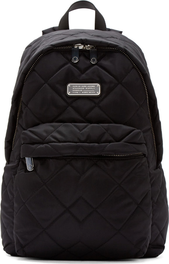 4c1a26a5b1249 ... Nylon Backpacks Marc by Marc Jacobs Black Quilted Crowsby Backpack ...