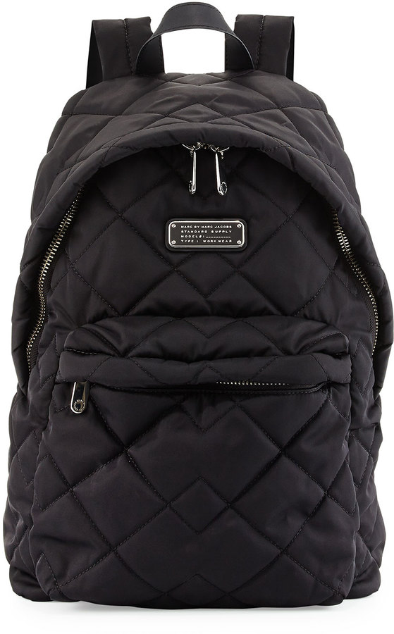 bbd076d7eebe3 ... Marc by Marc Jacobs Crosby Quilted Nylon Backpack Black ...