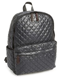 Metro quilted oxford nylon backpack black medium 201051
