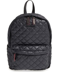 Small metro quilted oxford nylon backpack black medium 784908