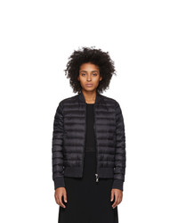 Moncler Black Down Abricot Bomber Jacket