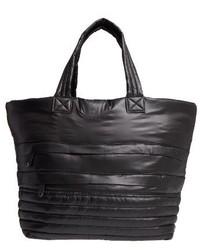 Quilted nylon tote black medium 1125446