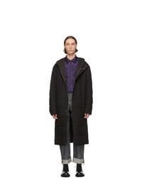 Dries Van Noten Black Quilted Poplin Coat