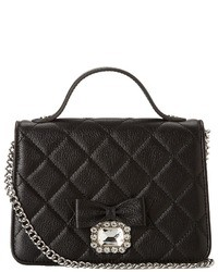 Black Quilted Satchel Bag