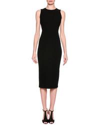 Giorgio Armani Chevron Quilted Sheath Dress Black