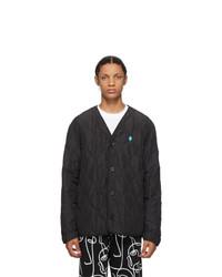 Marcelo Burlon County of Milan Black Quilted Cross Jacket