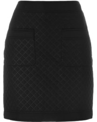 Love Moschino Quilted Fitted Skirt