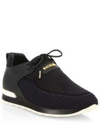 Balmain Quilted Slip On Sneakers