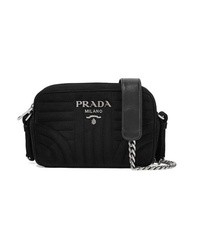 Prada Quilted Suede Camera Bag