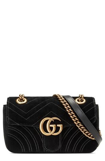 1ff464d4d068c4 Gucci Small Gg Marmont 20 Matelasse Velvet Shoulder Bag, $1,590 ...