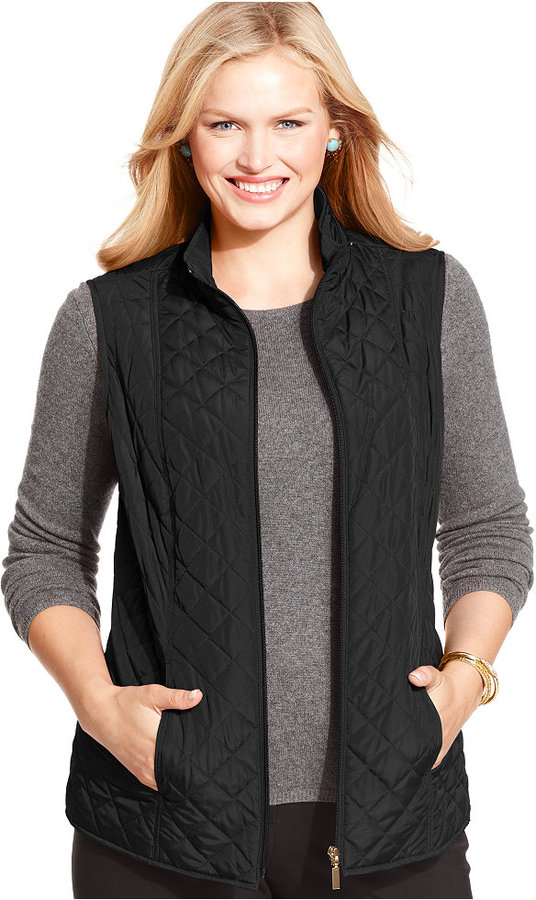 Charter Club Plus Size Reversible Quilted Vest | Where to buy ... : black quilted vest - Adamdwight.com
