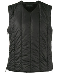 Black Quilted Waistcoat