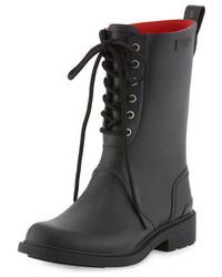Ansel lace up rain boot black medium 692919