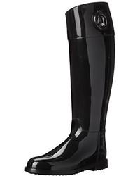 Armani Jeans Rainboot With Crystal Rain Shoe